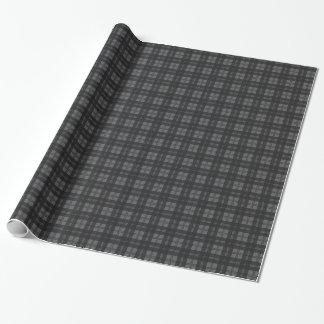 灰色の点検のタータンチェックのウール材料 ラッピングペーパー