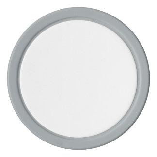 灰色の無地のな端が付いているポーカー用のチップ ポーカーチップ