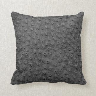 灰色の特大だちょうの革穀物の枕 クッション