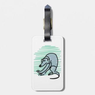 灰色の猟犬の荷物のラベル ラゲッジタグ