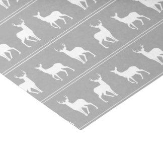 灰色の白いシカおよび雄鹿パターン 薄葉紙