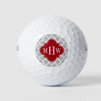 灰色の白いモトッコ人#5のクランベリー3の最初のモノグラム ゴルフボール