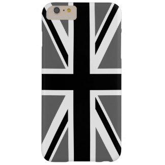 灰色の白黒英国国旗 BARELY THERE iPhone 6 PLUS ケース