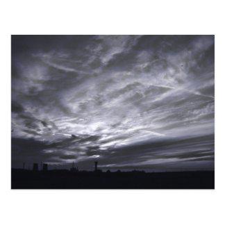 灰色の空|の郵便はがき 葉書き