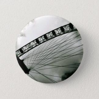 灰色の空、ロンドンの目ボタン 5.7CM 丸型バッジ