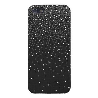 灰色の紙吹雪のiPhoneの箱 iPhone 5 ケース