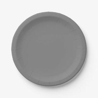 灰色の紙皿 ペーパープレート