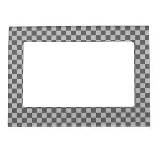 灰色の組合せのクラシックのチェッカーボード マグネットフレーム