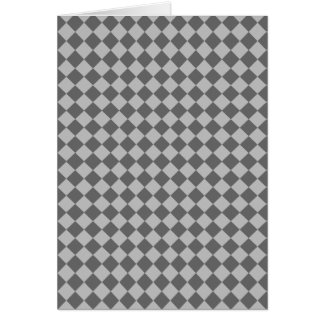 灰色の組合せのダイヤモンドパターン カード