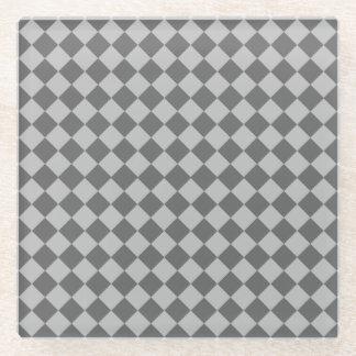灰色の組合せのダイヤモンドパターン ガラスコースター