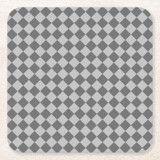 灰色の組合せのダイヤモンドパターン スクエアペーパーコースター