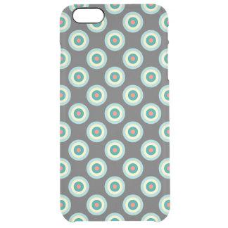 灰色の組合せの円 クリア iPhone 6 PLUSケース