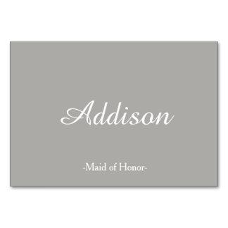 灰色の結婚式の座席表 カード