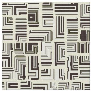灰色の緑の当惑パターン ファブリック
