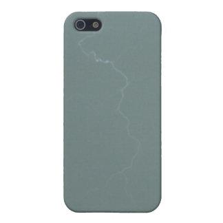 灰色の緑の稲妻4/4s iPhone 5 case
