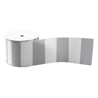 灰色の縦ストライプ グログランリボン