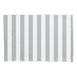 灰色の縦ストライプ 枕カバー