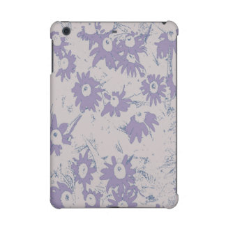 灰色の背景が付いている紫色の円錐形の花 iPad MINI RETINAケース