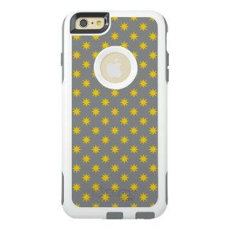 灰色の背景が付いている金ゴールドの星 オッターボックスiPhone 6/6S PLUSケース