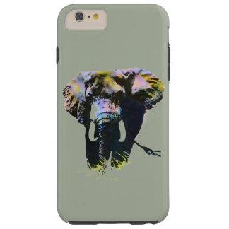 灰色の背景の象のアートワーク TOUGH iPhone 6 PLUS ケース
