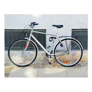 灰色の自転車、コペンハーゲン、デンマーク ポストカード