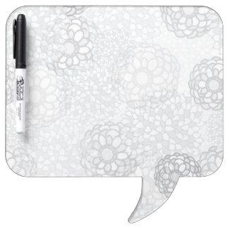 灰色の花の破烈のデザイン ホワイトボード