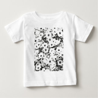 灰色の花 ベビーTシャツ