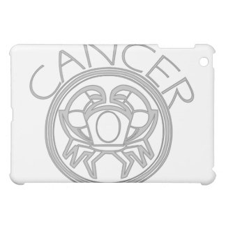 灰色の蟹座カニの占星術の印 iPad MINIケース