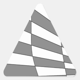 灰色の角度のデザイン 三角形シール