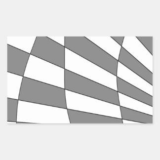 灰色の角度のデザイン 長方形シール