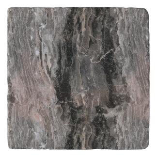 灰色の調子の大理石の石造りの質 トリベット