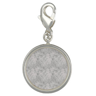 灰色の質の円形のチャーム チャーム