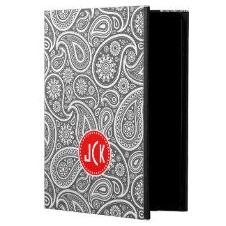 灰色の赤と白のヴィンテージのペイズリー POWIS iPad AIR 2 ケース