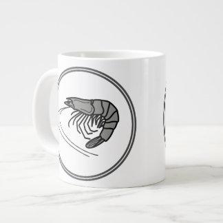 灰色の車海老-魚の車海老のカニのコレクション ジャンボコーヒーマグカップ