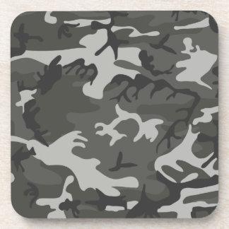 灰色の軍隊のカムフラージュ コースター