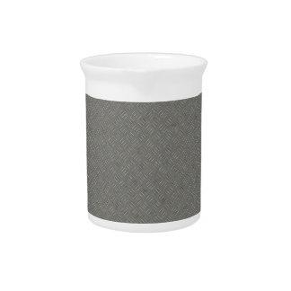灰色の金属のダイヤモンドのプレートの質の背景 ピッチャー