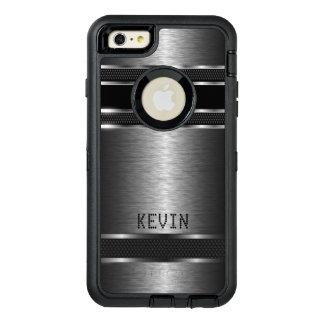 灰色の金属モダンな幾何学的設計 オッターボックスディフェンダーiPhoneケース
