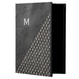 灰色の金属一見のモノグラムのiPadの空気2箱 Powis iPad Air 2 ケース