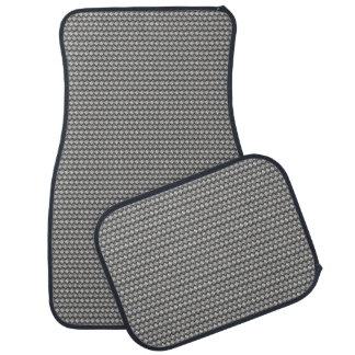 灰色の金属編まれた一見のカーマットセット カーマット