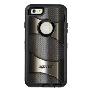灰色の金属質のモダンな幾何学的設計 オッターボックスディフェンダーiPhoneケース
