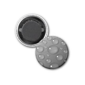 灰色の雨滴の背景 マグネット