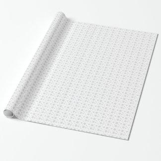灰色の雪片の包装紙との白 ラッピングペーパー