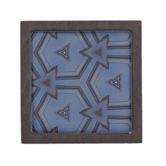 灰色の青い情報通の矢の幾何学的なパターン ギフトボックス