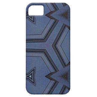 灰色の青い情報通の矢の幾何学的なパターン iPhone SE/5/5s ケース