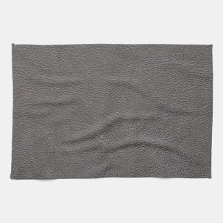 灰色の革プリントの質パターン キッチンタオル