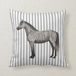 灰色の馬の枕をまだらにして下さい クッション