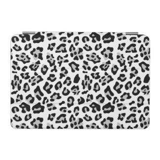 灰色の黒いヒョウのアニマルプリントパターン iPad MINIカバー