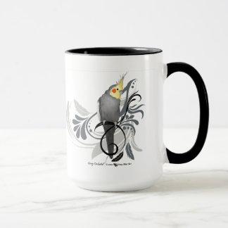 灰色のCockatiel マグカップ