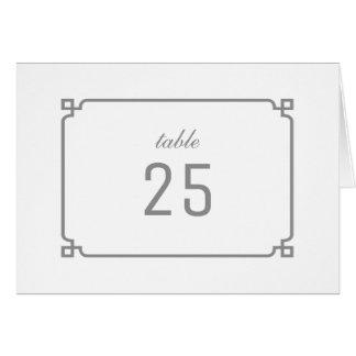 灰色のDecoのシックなテーブル数 グリーティングカード