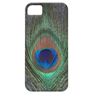 灰色のiPhone 5のやっとそこに箱の孔雀の羽 iPhone SE/5/5s ケース